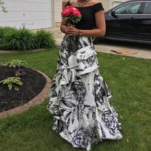 Jovani B&W Prom Dress